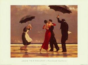 bailarines bajo la lluvia