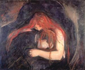 """""""Vampiro"""" de Edvard Munch"""